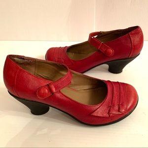 Miz Mooz Red Leather Mary Jane Shoes - 8